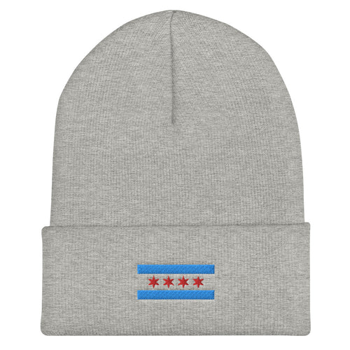 Chicago Flag Cuffed Beanie - 312 Supply + Co.