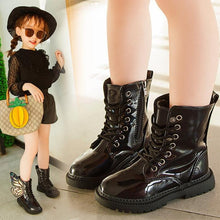 Load image into Gallery viewer, Children Winter PU Leather Shoes