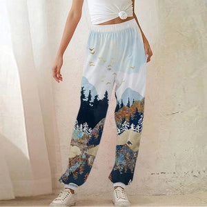 Mountain Tree Printed Sweatpants