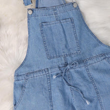 Load image into Gallery viewer, Blue Denim Overalls Jumpsuit Rompers