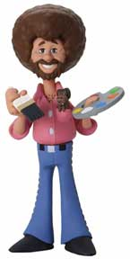 Nytf 2020 - Toony Classics Bob Ross With Peapod 6In Scale Action Figure