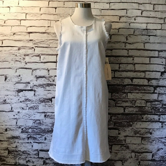 Vince Camuto Women's Denim Dress White Medium