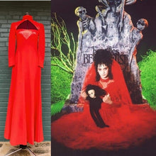 Load image into Gallery viewer, VTG Red Wool Dress