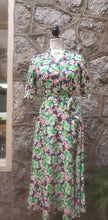 Load image into Gallery viewer, Women's Retro Floral Dress