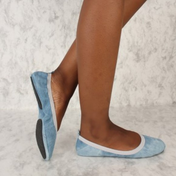Foldable Denim Flats