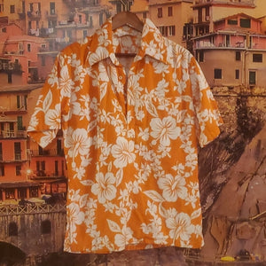 Vintage Hawaiian Casual Button Down Shirts Size M