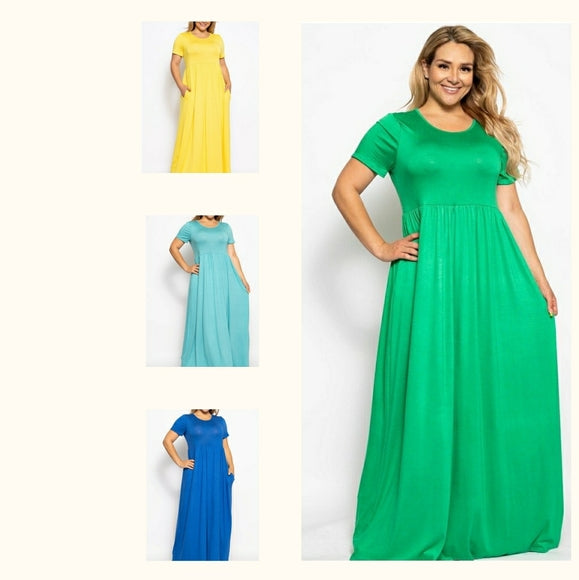 Women's Plus Size Maxi Dresses 1X/2X/3X