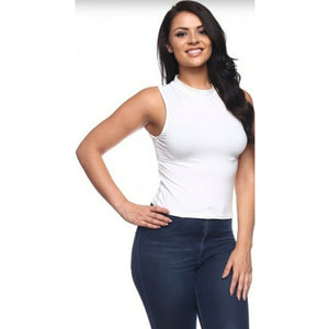Women's Plus Size White Mock Top 1X/2X/3X