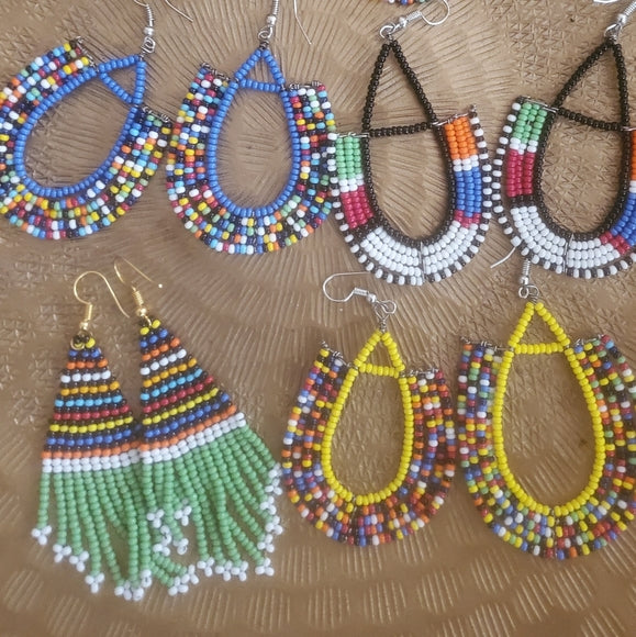 Handmade African Earrings (4 pair)