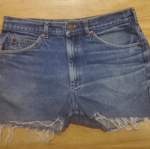 Vintage Lee Women's Jean Shorts Waist 36