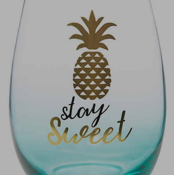 Stay Sweet Stemless Wine Glass