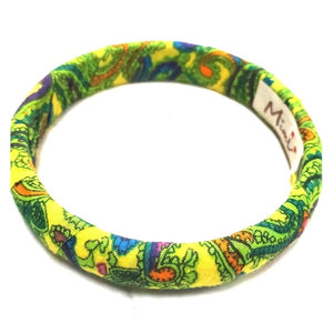 Mimi Fabric Bracelet Yellow, Purple, Blue