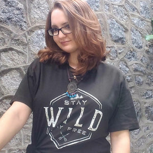 Stay Wild and Free Women's Graphic Tee Size M, L, XL