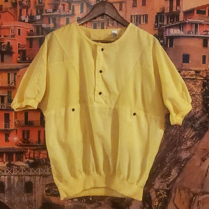 Vintage Yellow Sport Top