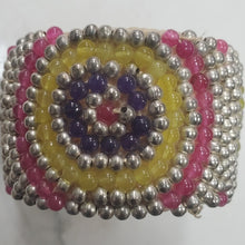 Load image into Gallery viewer, Vintage Handcrafted Beaded Cuff Bracelet
