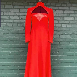 VTG Red Wool Dress