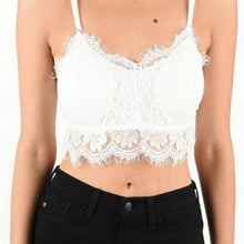 Load image into Gallery viewer, White Lace Bralette Size S, M, L