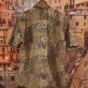 Vintage Men's Tori Richards Hawaiian Shirt Neck 15