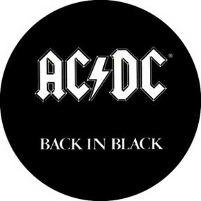 Ac/Dc Back In Black 1.25In Button