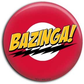 Bazinga No Face Button