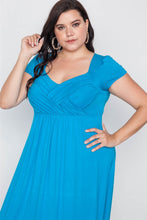 Load image into Gallery viewer, Plus Size Short Sleeve Maxi Dress