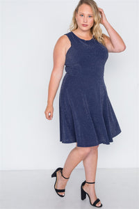 Plus Size Sleeveless A-line Evening Dress