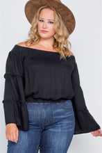 Load image into Gallery viewer, Plus Size Off-the-shoulders Bell Sleeve Top