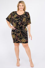 Load image into Gallery viewer, Plus Size Multi Color Print Short Sleeve Dress