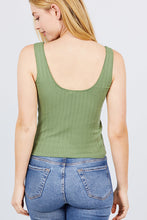 Load image into Gallery viewer, Sleeveless Double Scoop Neck Lace Trim Detail Pointelle Knit Top