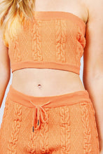 Load image into Gallery viewer, Cable Detail Sweater Tube Top And Sweater Short Pants Set