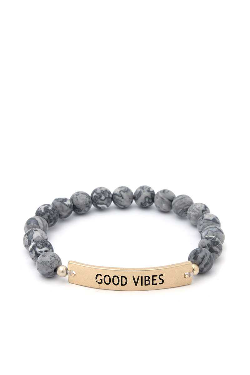Good Vibes Beaded Bracelet