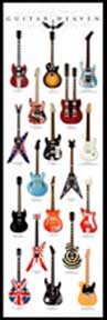 Guitar Heaven 21In X 62In Door Poster