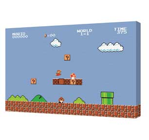 Super Mario Bros. - Level 1-1 Canvas