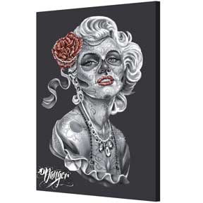 James Danger - Dod Red Rose Canvas