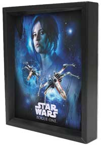 Star Wars - R1 - Jyn Space Framed 3D Lenticular