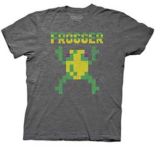 Vintage Distressed 8-Bit Frogger Mens T-Shirt