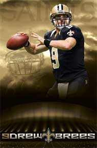 Drew Brees 22In X 34In Poster