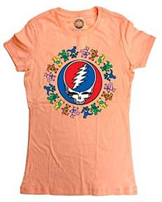 Dancing Bears Steal Your Face Logo Junior T-Shirt