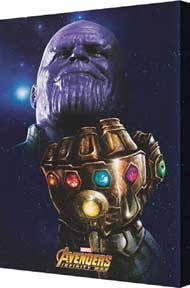 Thanos Stones 24In X 36In Metallic Canvas