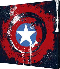 Captain America - Vibranium (F Metallic Canvas