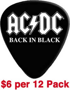 Ac/Dc Back In Black Guitar Pick