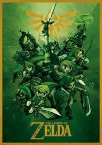 Zelda - Links 39In X 55In Giant Poster