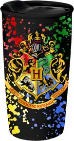 Hogwarts Crest Splatter 16Oz Ceramic Travel Mug