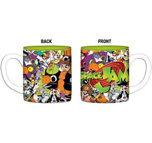 Logo Over Collage Of Characters 14Oz Ceramic Mugs