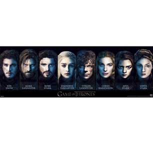 Game Of Thrones - Characters 12In X 36In Slim Poster
