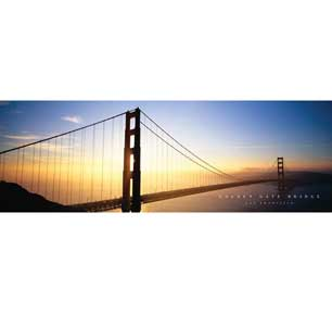 Golden Gate Bridge - Color 12In X 36In Slim Poster