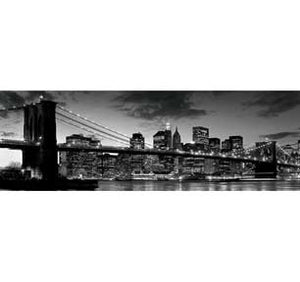 Brooklyn Bridge At Dusk 12In X 36In Slim Poster