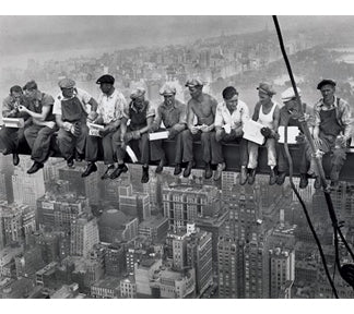 Lunch On A Skyscraper 16In X 20In Mini Poster