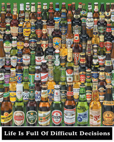 Beer Bottles 16In X 20In Mini Poster