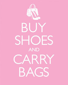 Buy Shoes & Carry Bags 16In X 20In Mini Poster